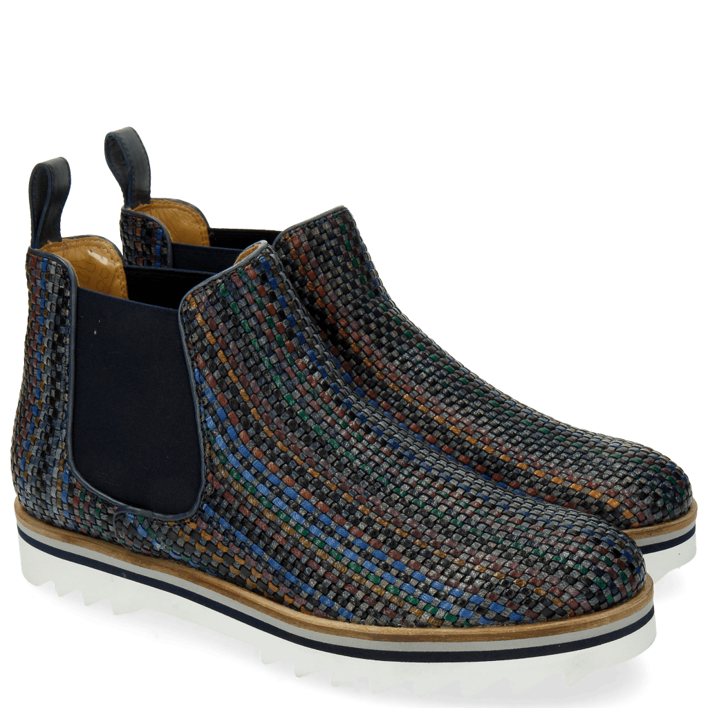 Bottines Sally 25 Woven Harrisburg Blue