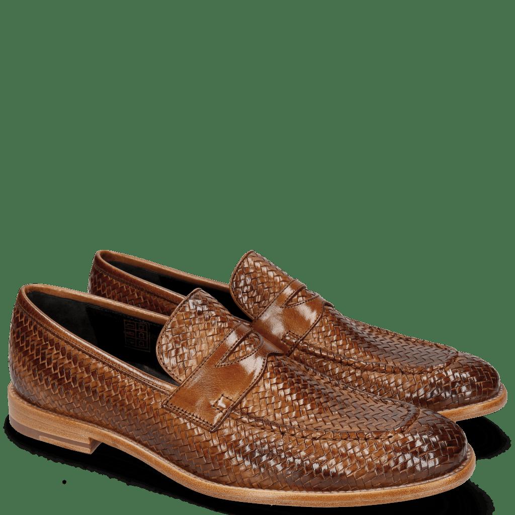 Mocassins Eddy 44 Haring Bone Weave Tan Lining Nappa