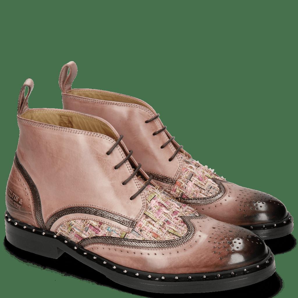 Bottines Sally 30 Rosa Fermont Copper Textile