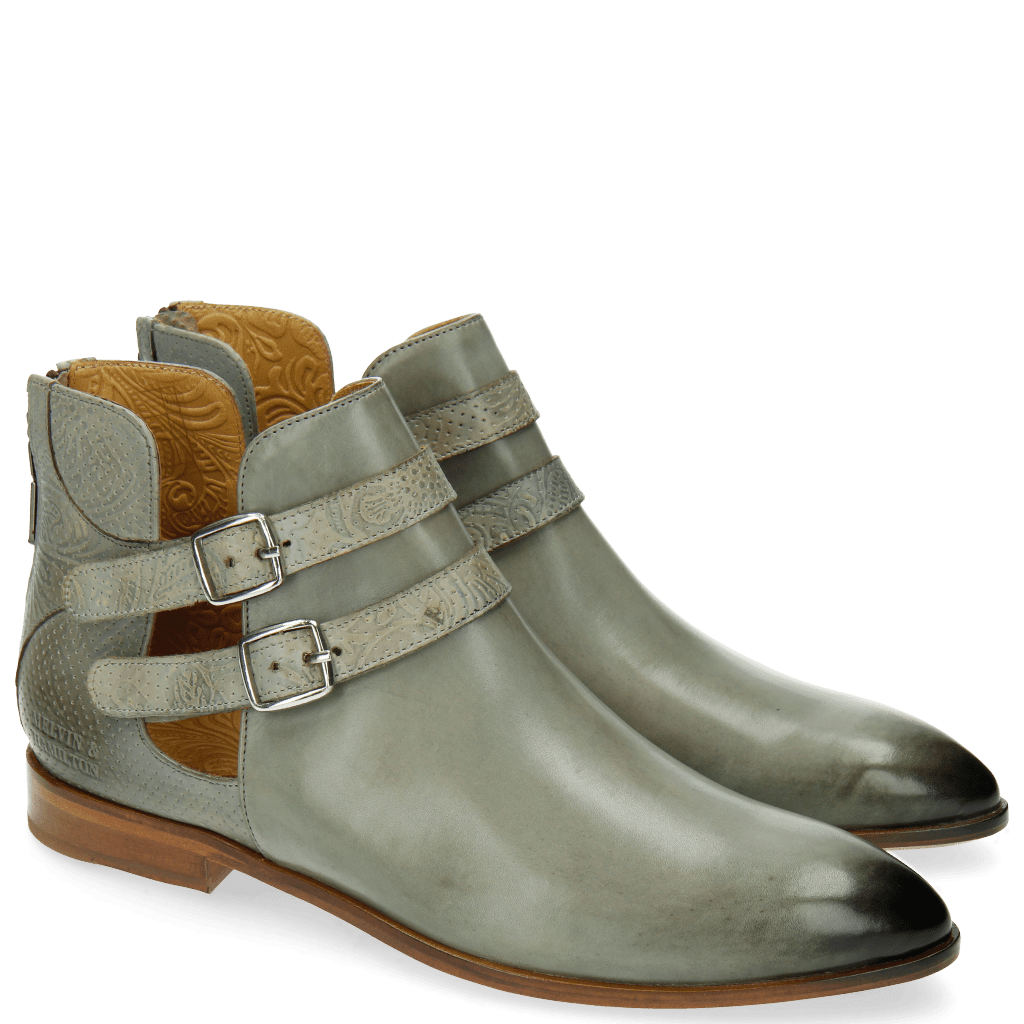 Bottines Jessy 19 Floral Perfo Clear Water