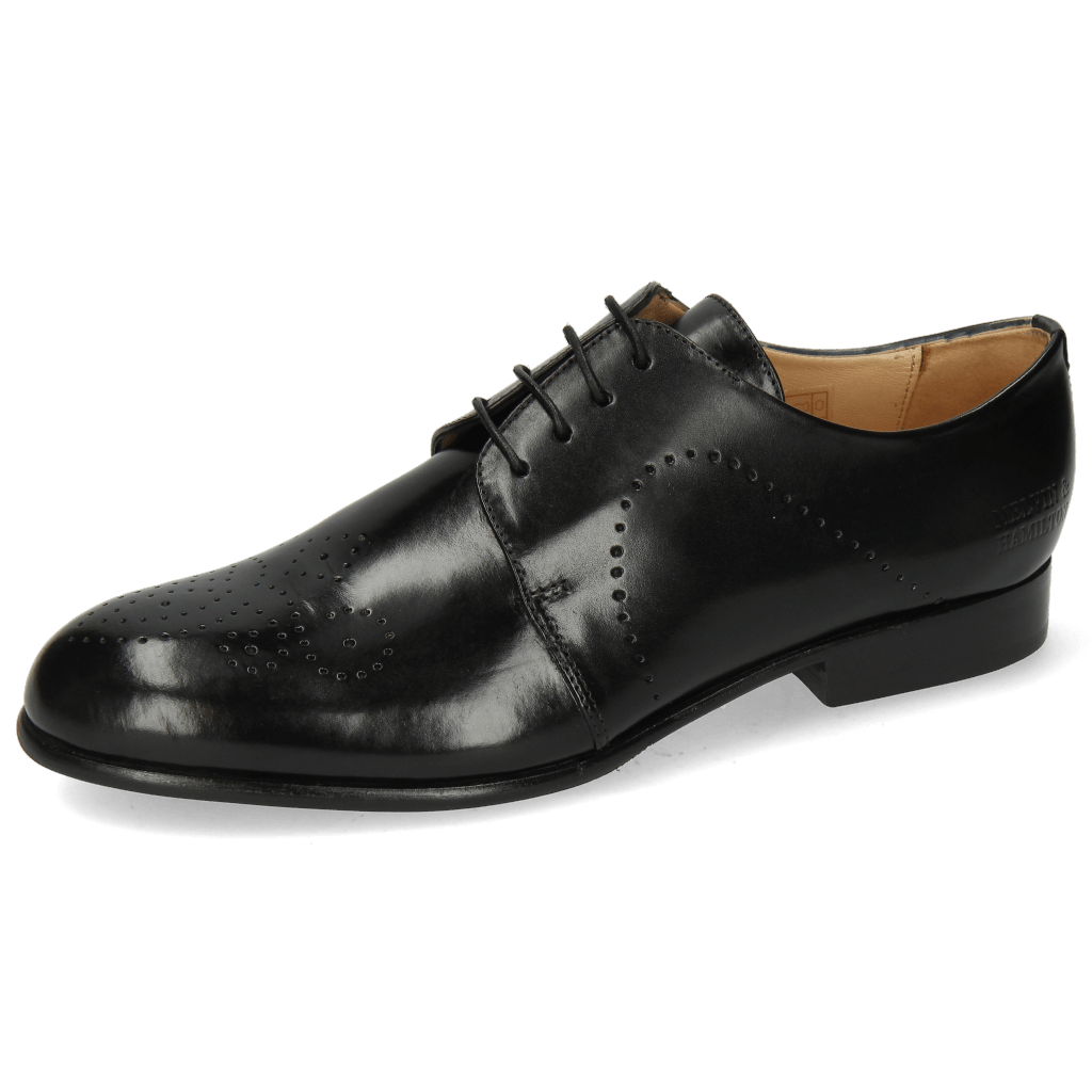 Derbies Sally 1 Black Lining Rich Tan