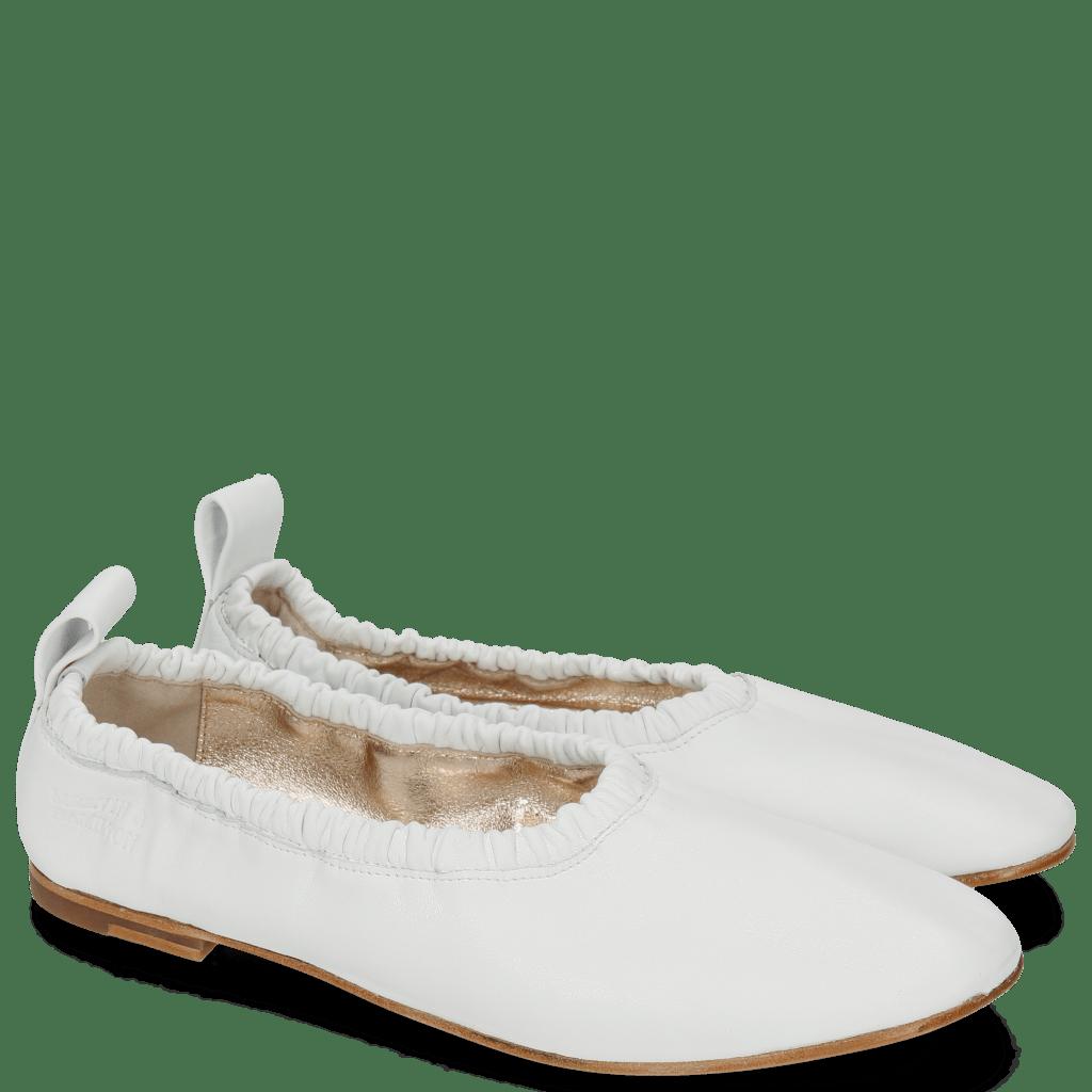Ballerines Iris 2 Nappa White Sheep Platin