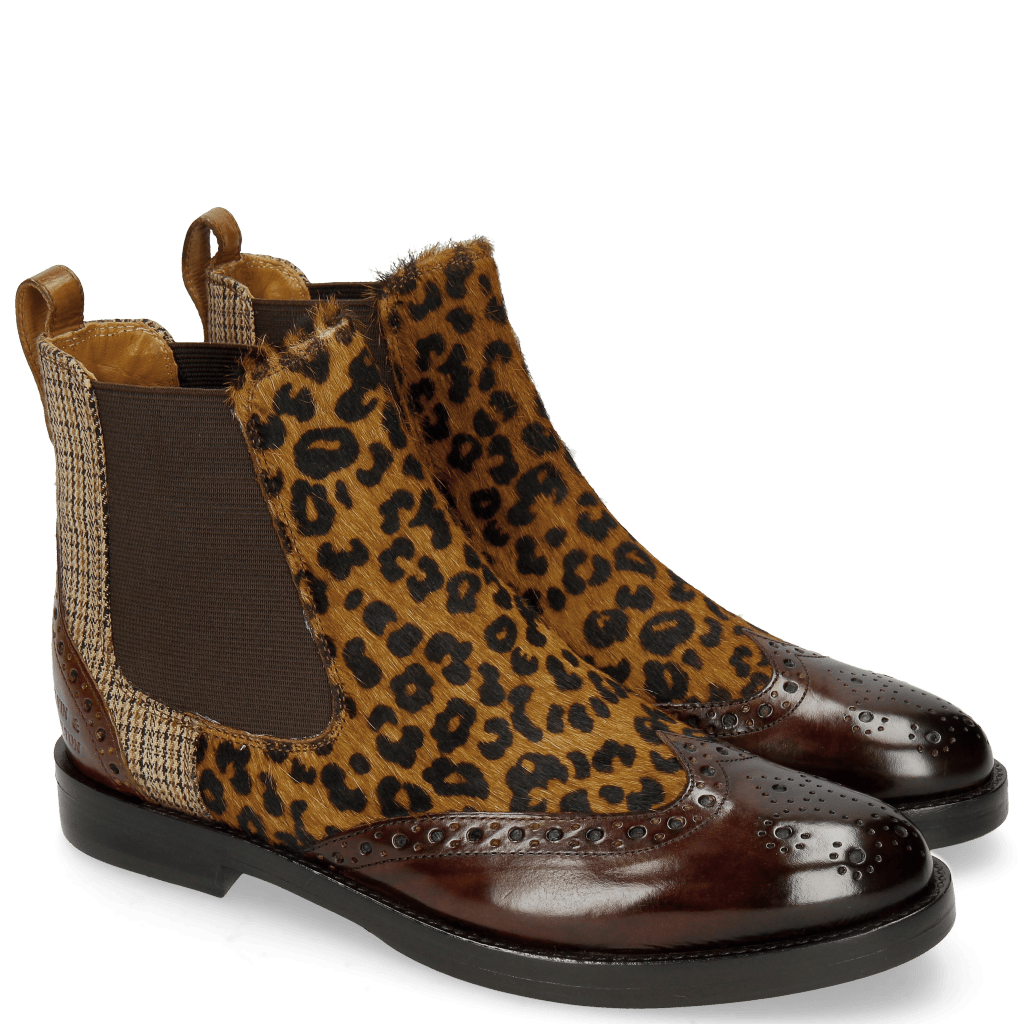 Bottines Selina 29 Mid Brown Hairon Leo Cappu Textile