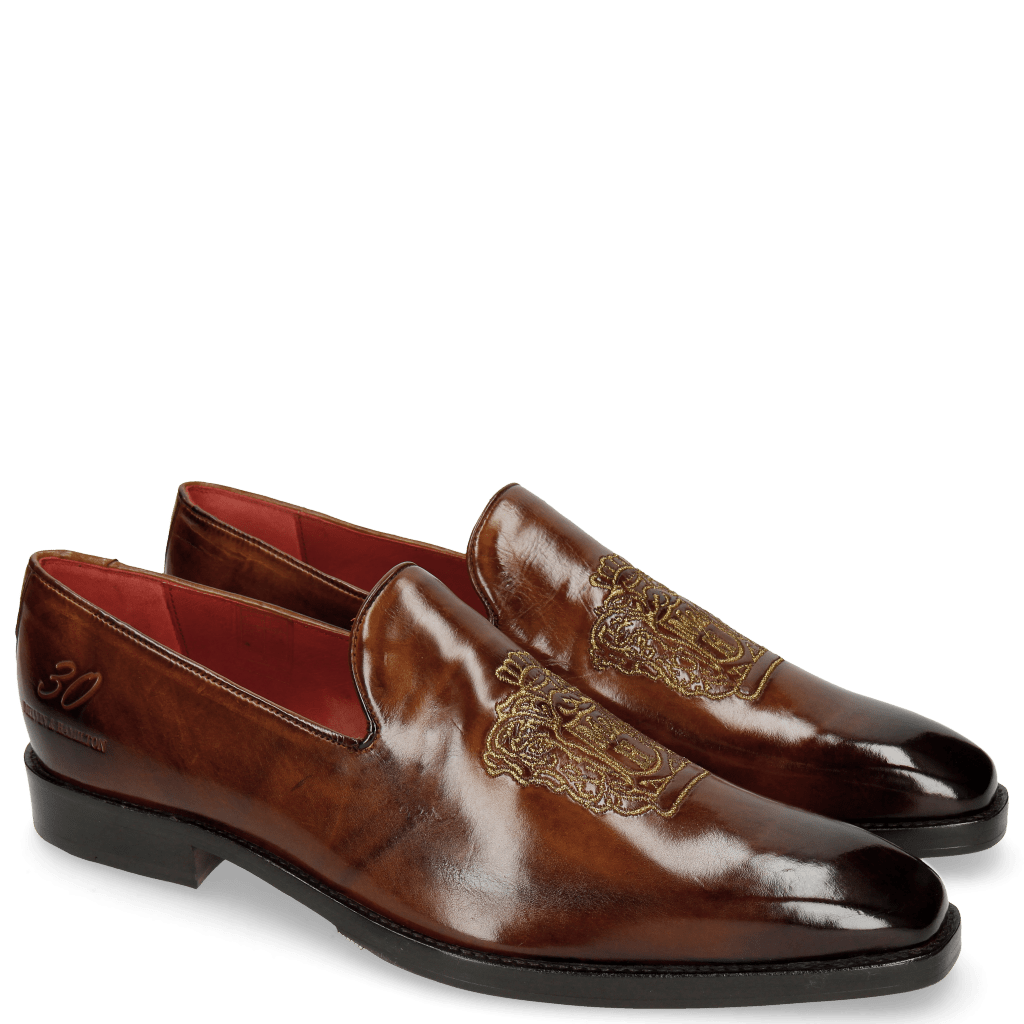 Mocassins Leonardo 7 Wood Embrodery M&H Crown