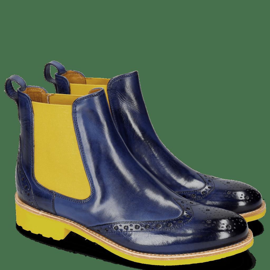 Bottines Amelie 5 Saphir Elastic Yellow