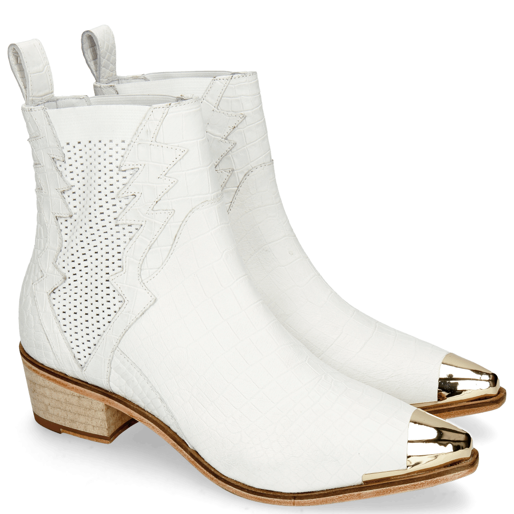 Bottines May 1 Nappa White Toe Cap