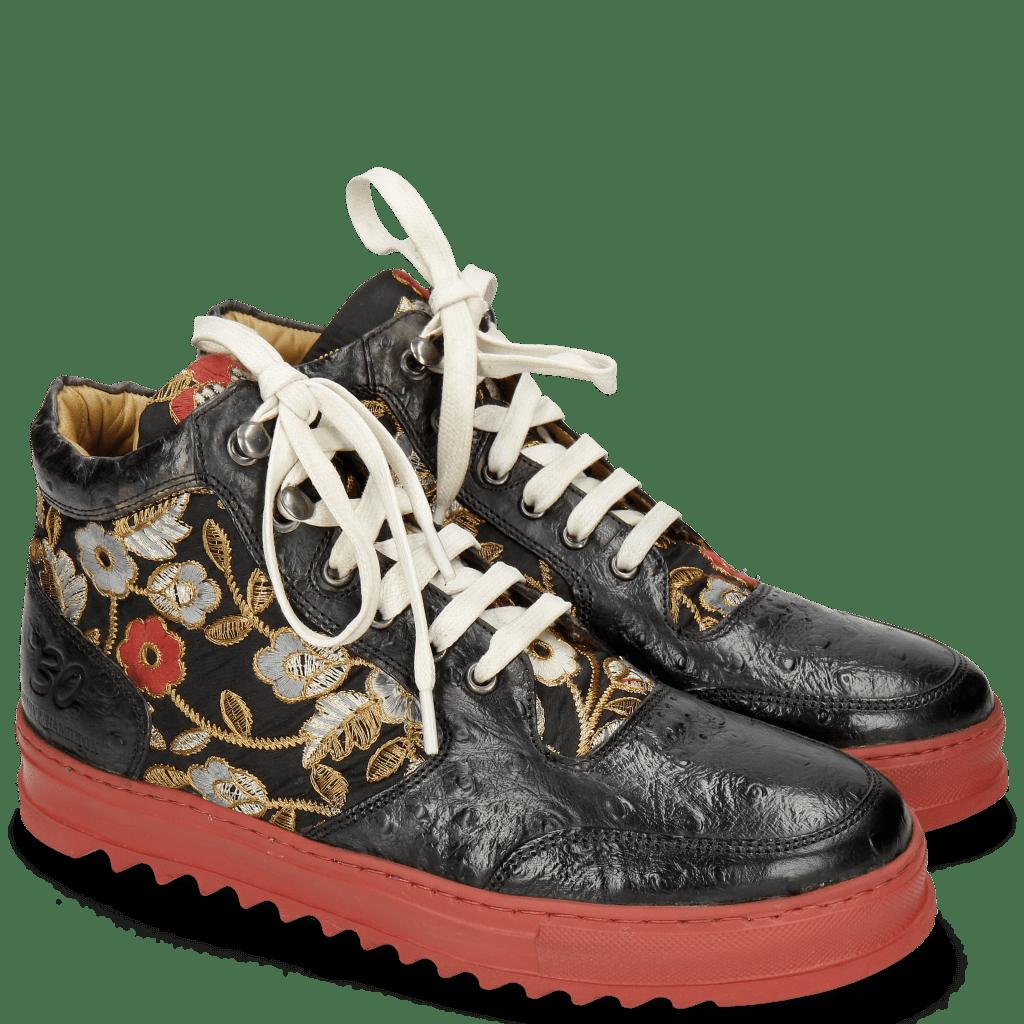 Sneakers Maxima 1 Ostrich Black Brocade