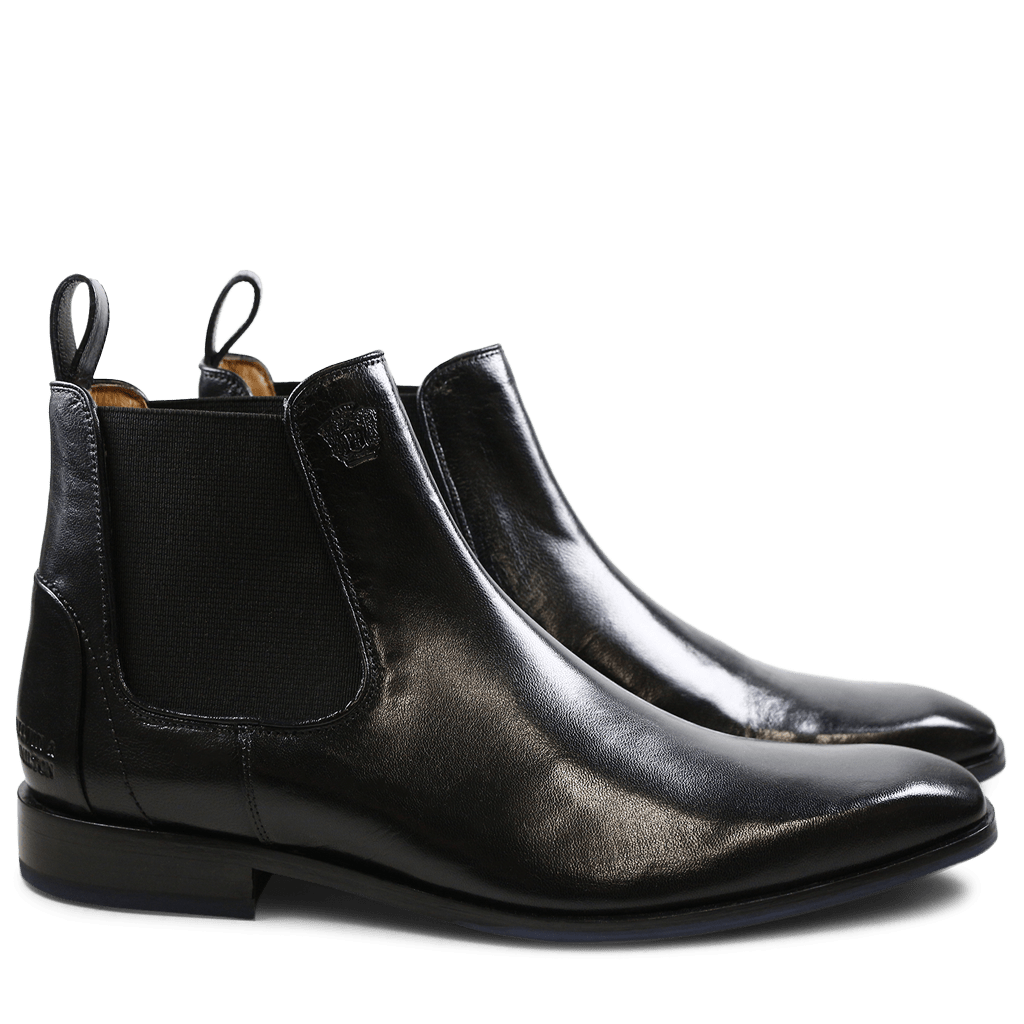 Bottines Xander 2 Venice Black Elastic Black HRS Navy
