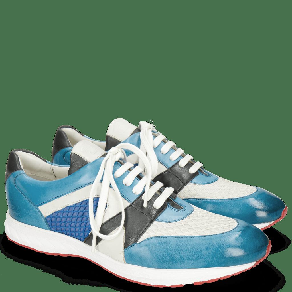 Sneakers Blair 9 Vegas Mid Blue Net White Nappa Navy White Electric Blue