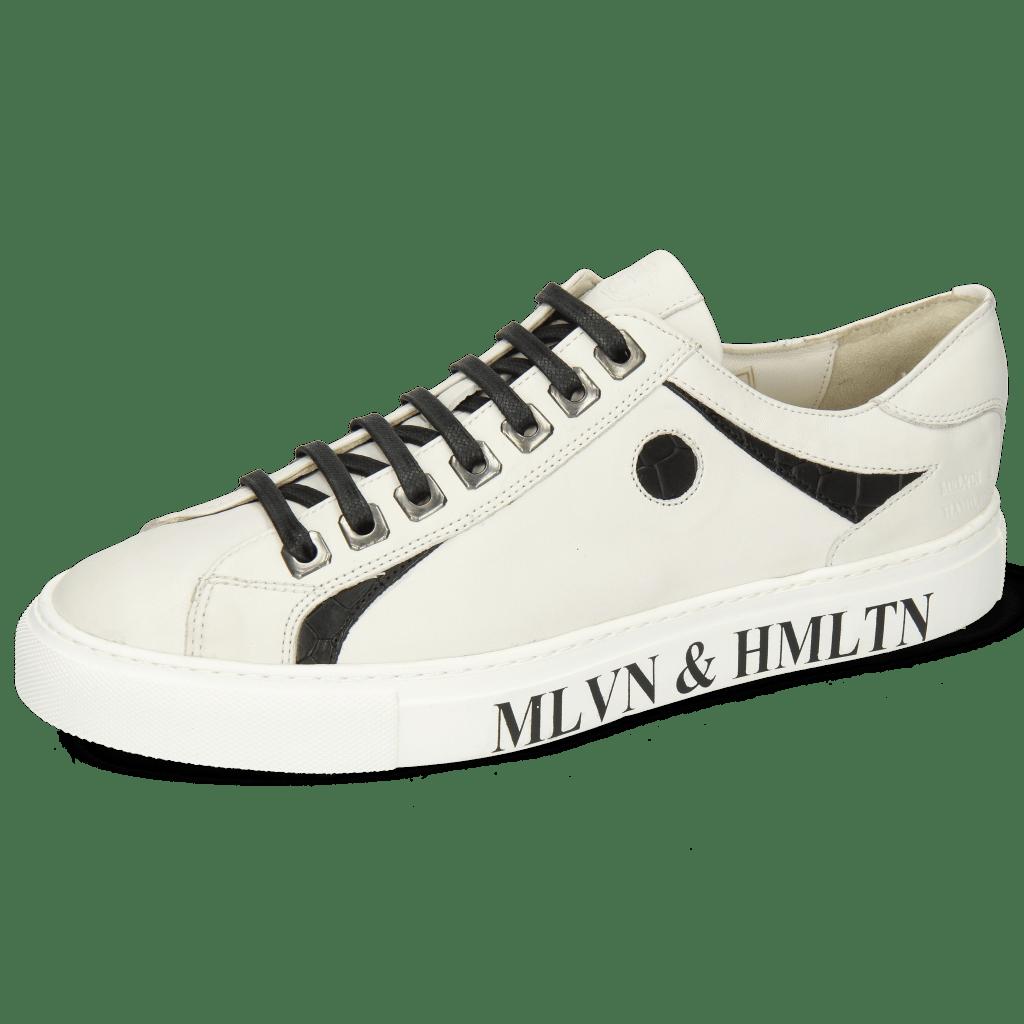 Sneakers Harvey 9 Nappa White Crock Black