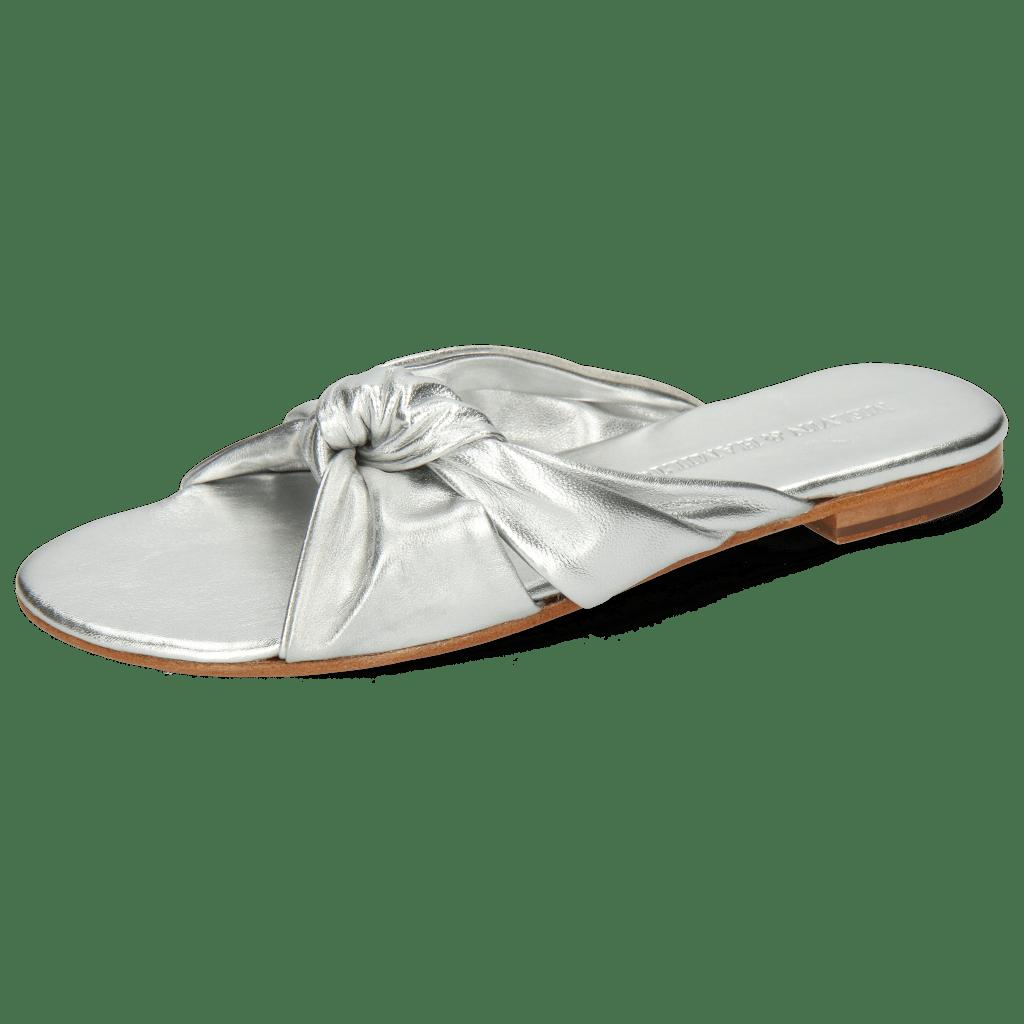 Mules Hanna 63 Nappa Silver Footbed