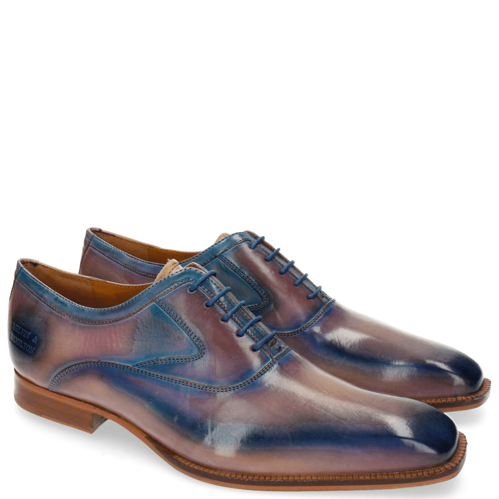 Richelieu Woody 3 Nude Lilac Mid Blue Finish Washed