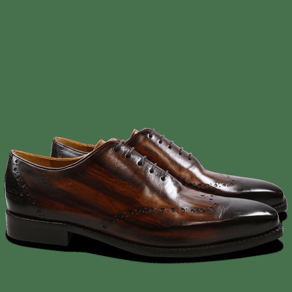 Richelieu Nicolas 1 Crust Tan Shade & Lines Dark Brown HRS