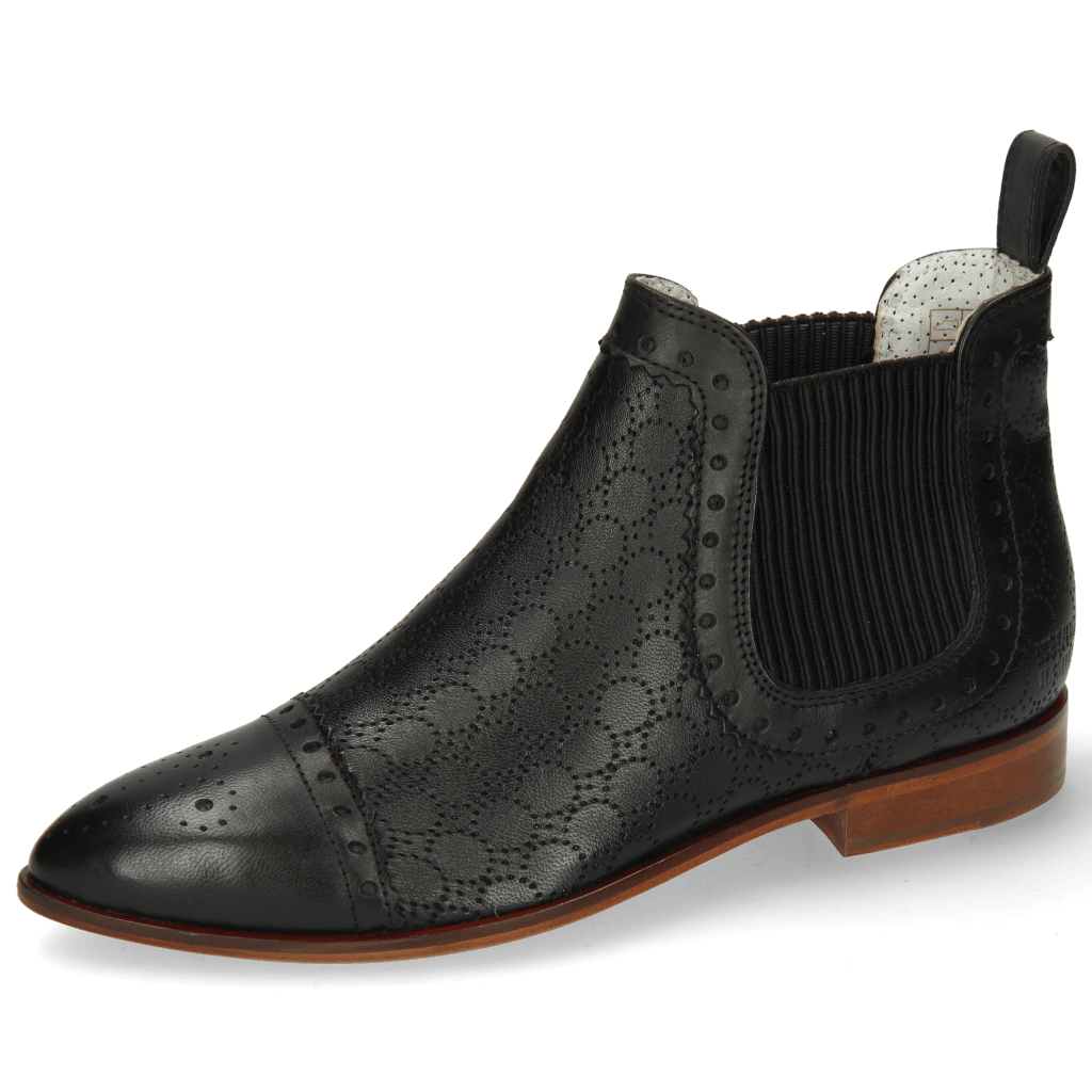 Bottines Jessy 55 Nappa Glove Perfo Black
