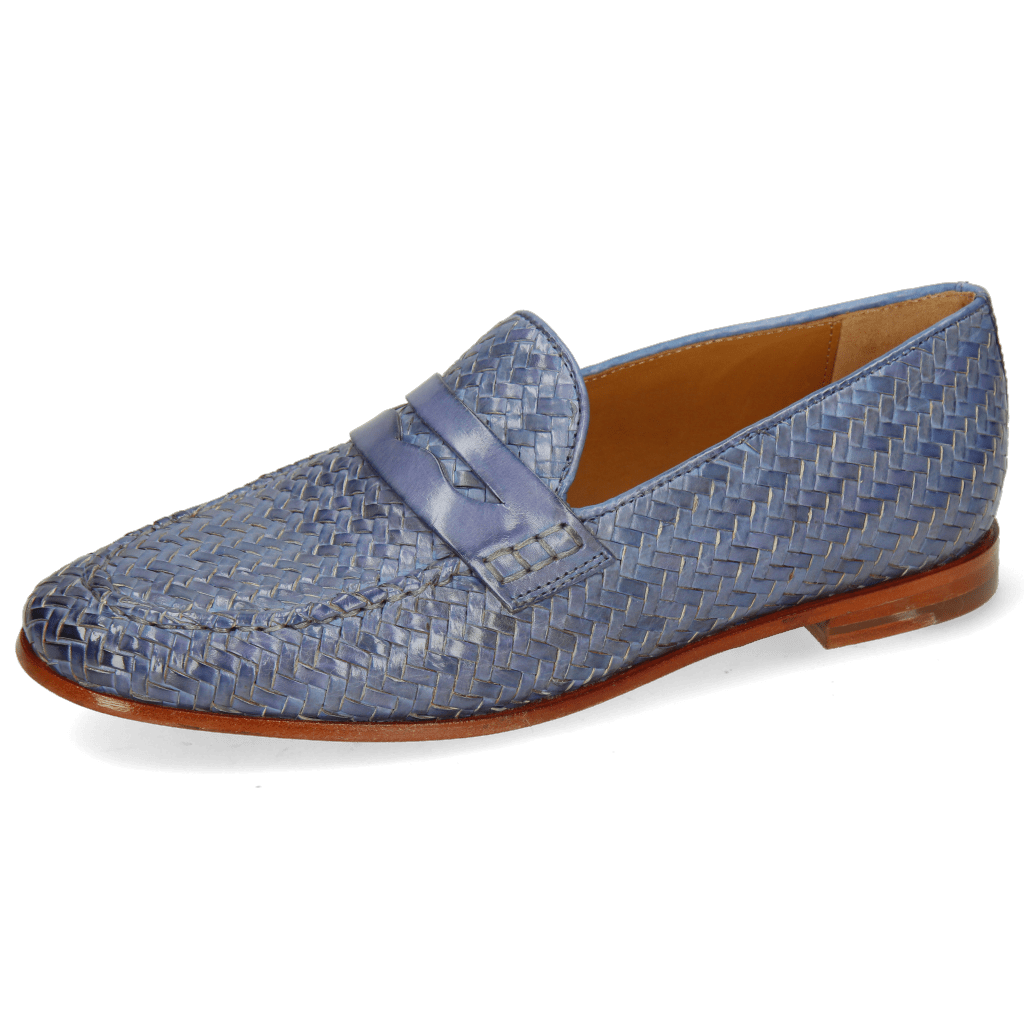 Mocassins Scarlett 52 Vegas Haring Bone Weave Moroccan Blue