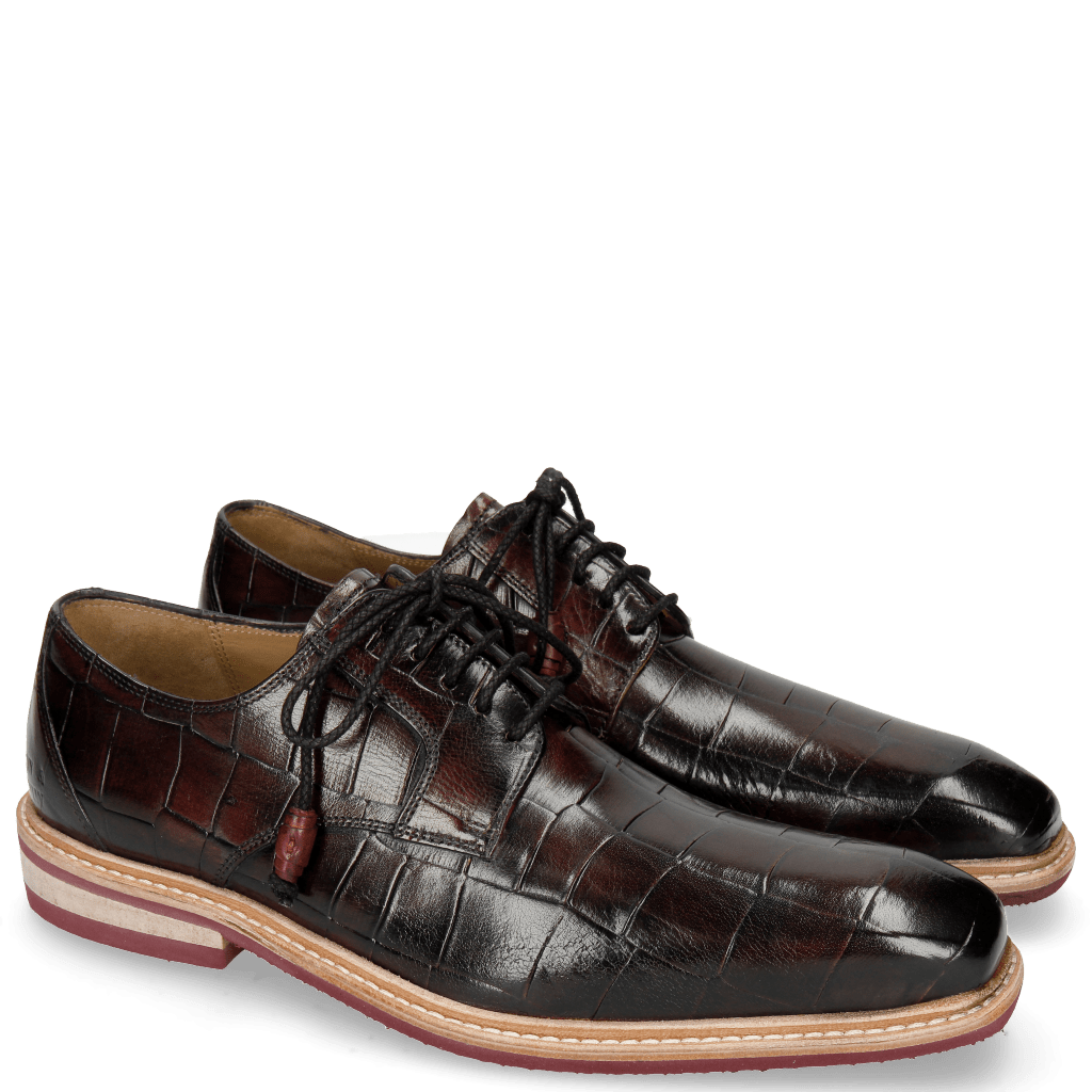 Derbies Marvin 19 Turtle Black Finishing Red