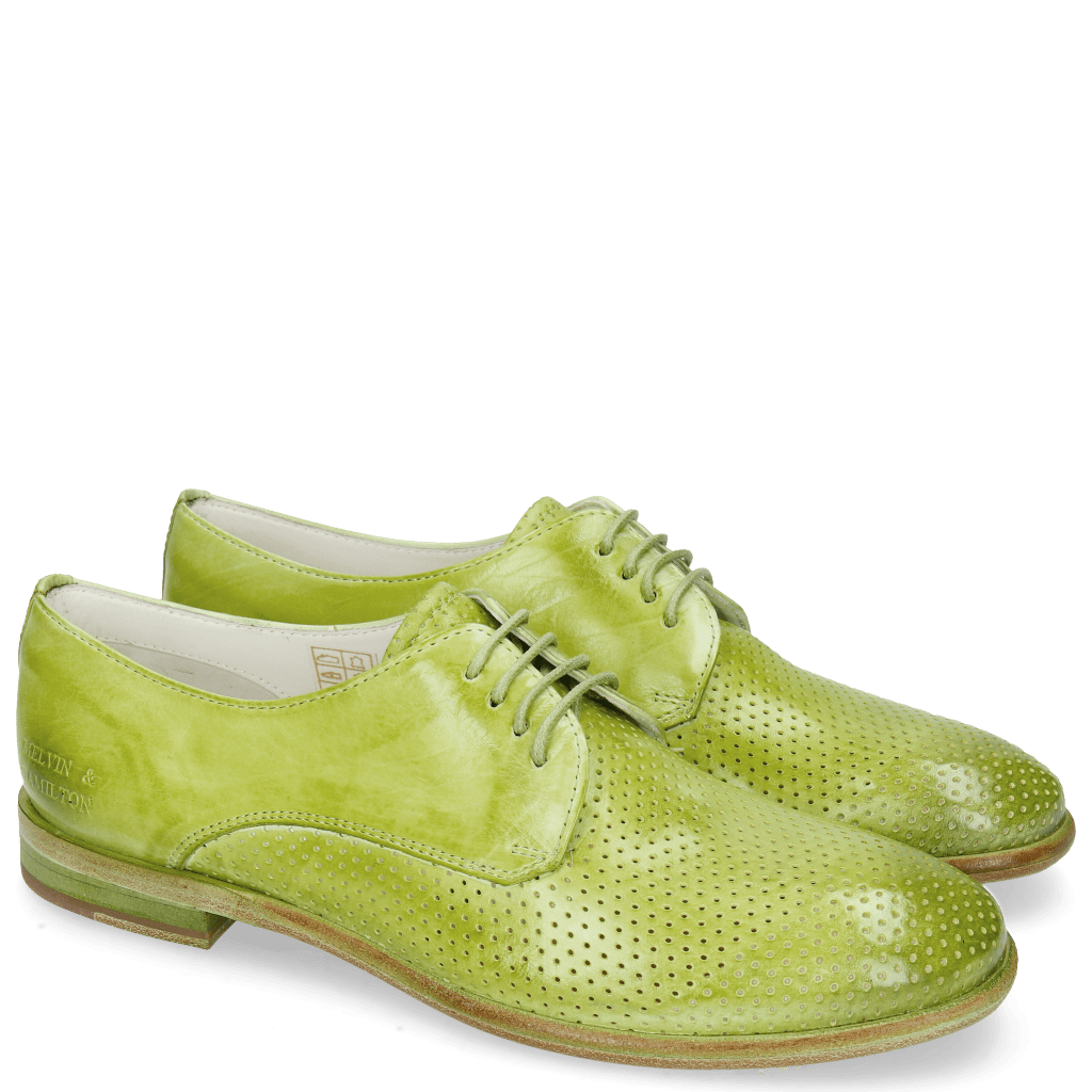 Derbies Jenny 8 Perfo Mid Green