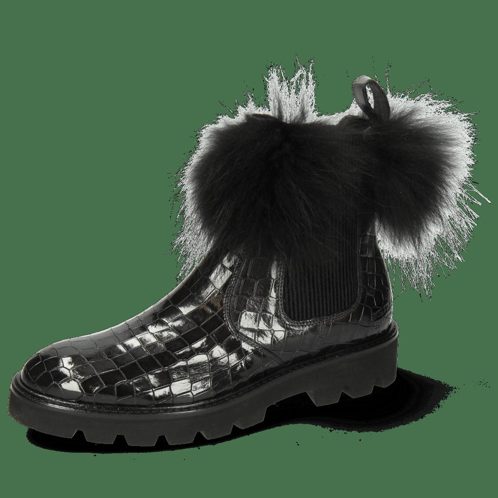Bottines Sally 114 Crock London Fog Collar Fur