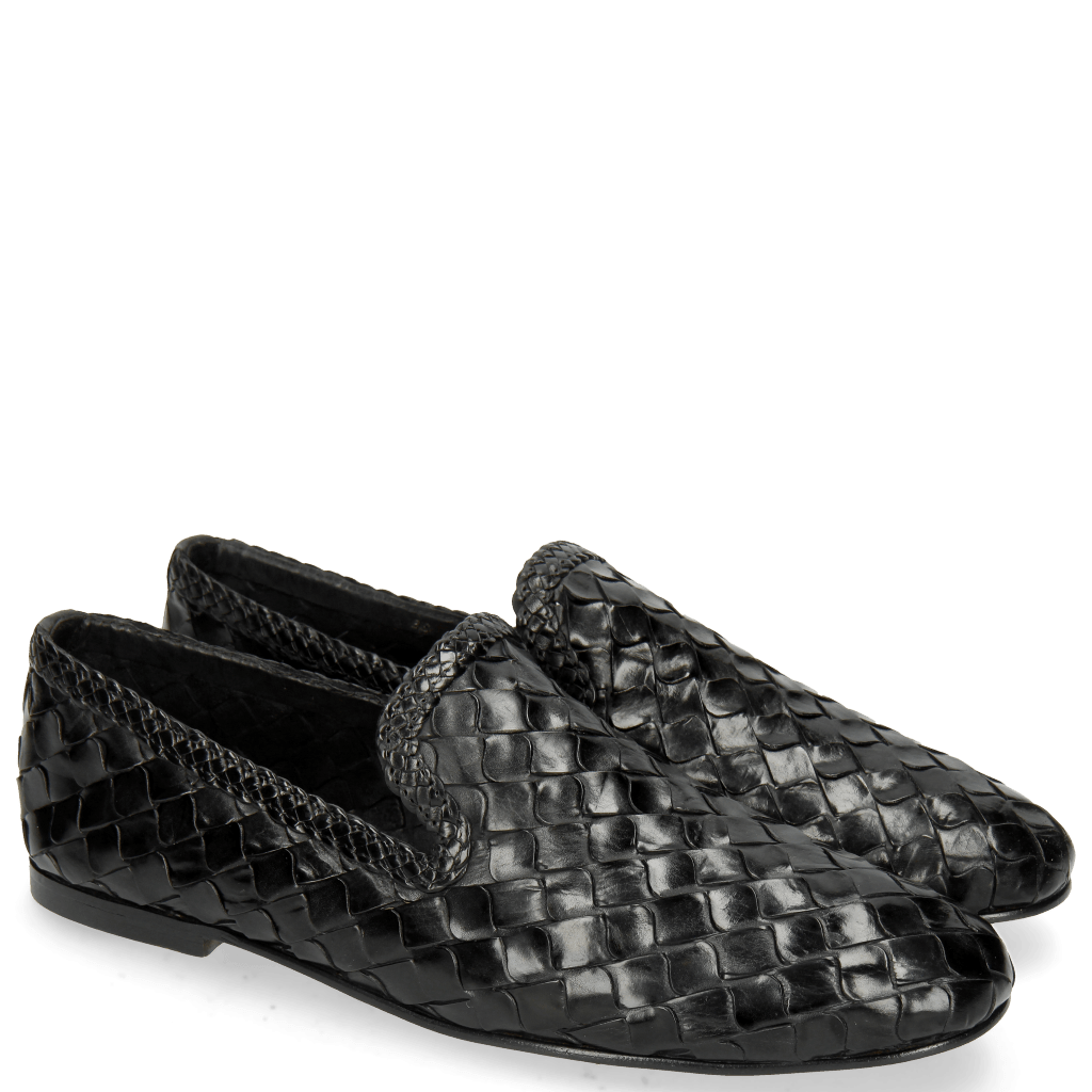 Mocassins Mandy 1 Interlaced Scale Black