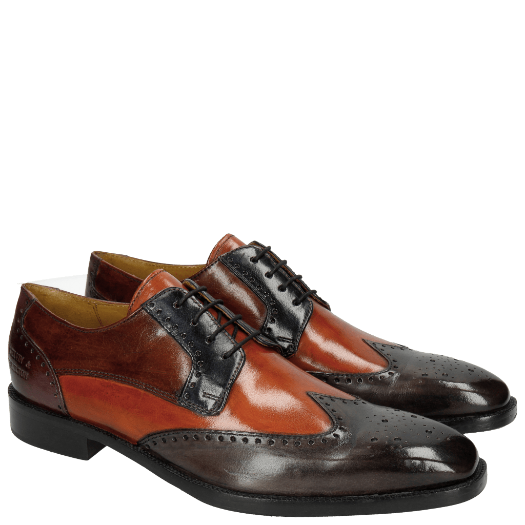 Derbies Jeff 14 Classic Stone Winter Orange Navy Cognac Violet HRS