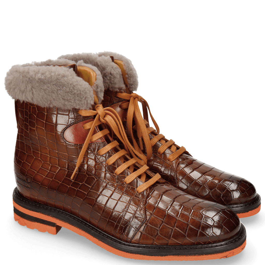 Bottines Trevor 19 Crock Wood Winter Orange Fur Taupe
