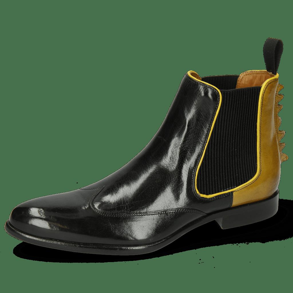 Bottines Keira 7 Black Sol Binding Fluo Yellow