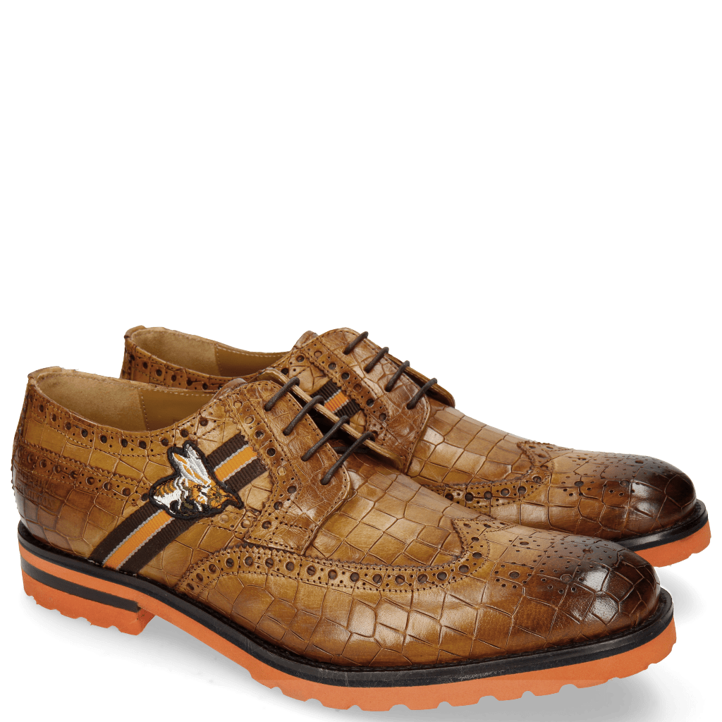 Derbies Eddy 25 Crock Fango Strap Brown Orange