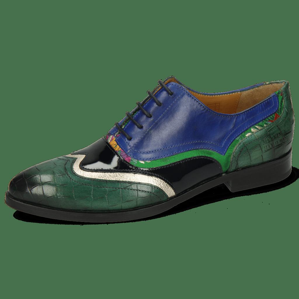 Richelieu Jessy 13 Crock Pine Nappa Aztek Gold Soft Patent Oriental Saphir Korela Green