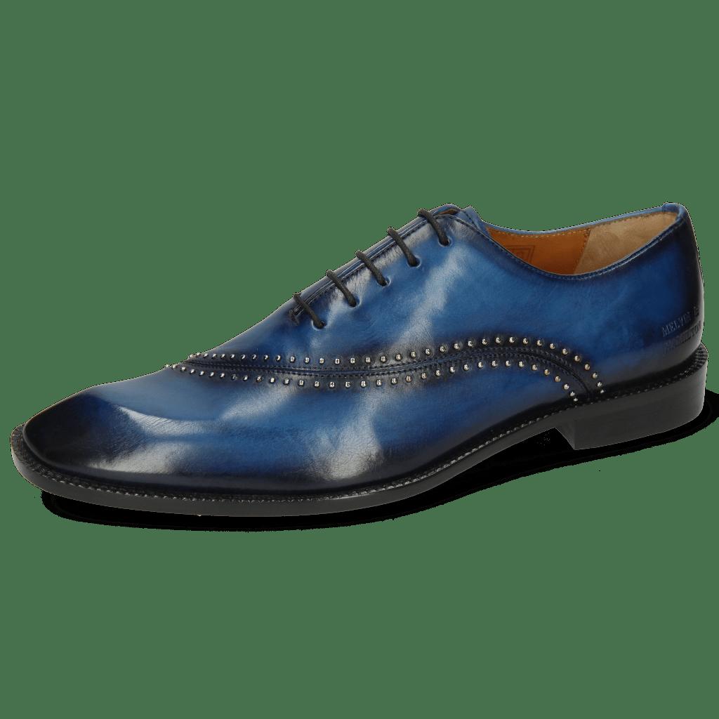 Richelieu Gaston 2 Mid Blue Shade Navy Rivets