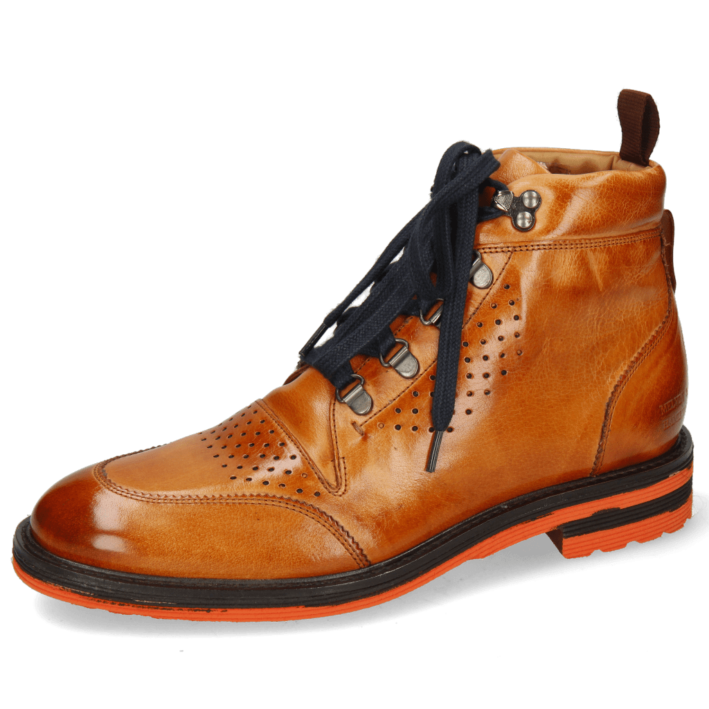 Bottines Trevor 5 Winter Orange Laces Blue