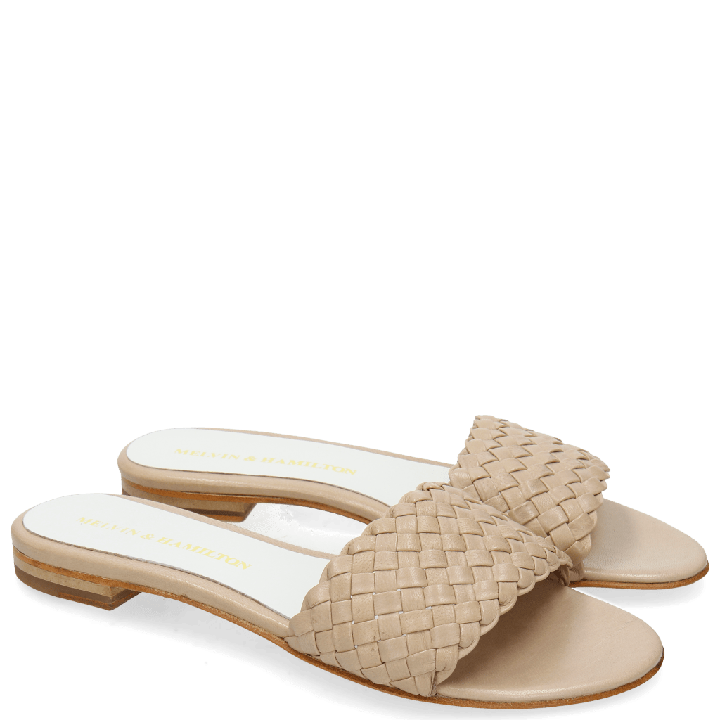 Mules Hanna 26 Woven Bisque