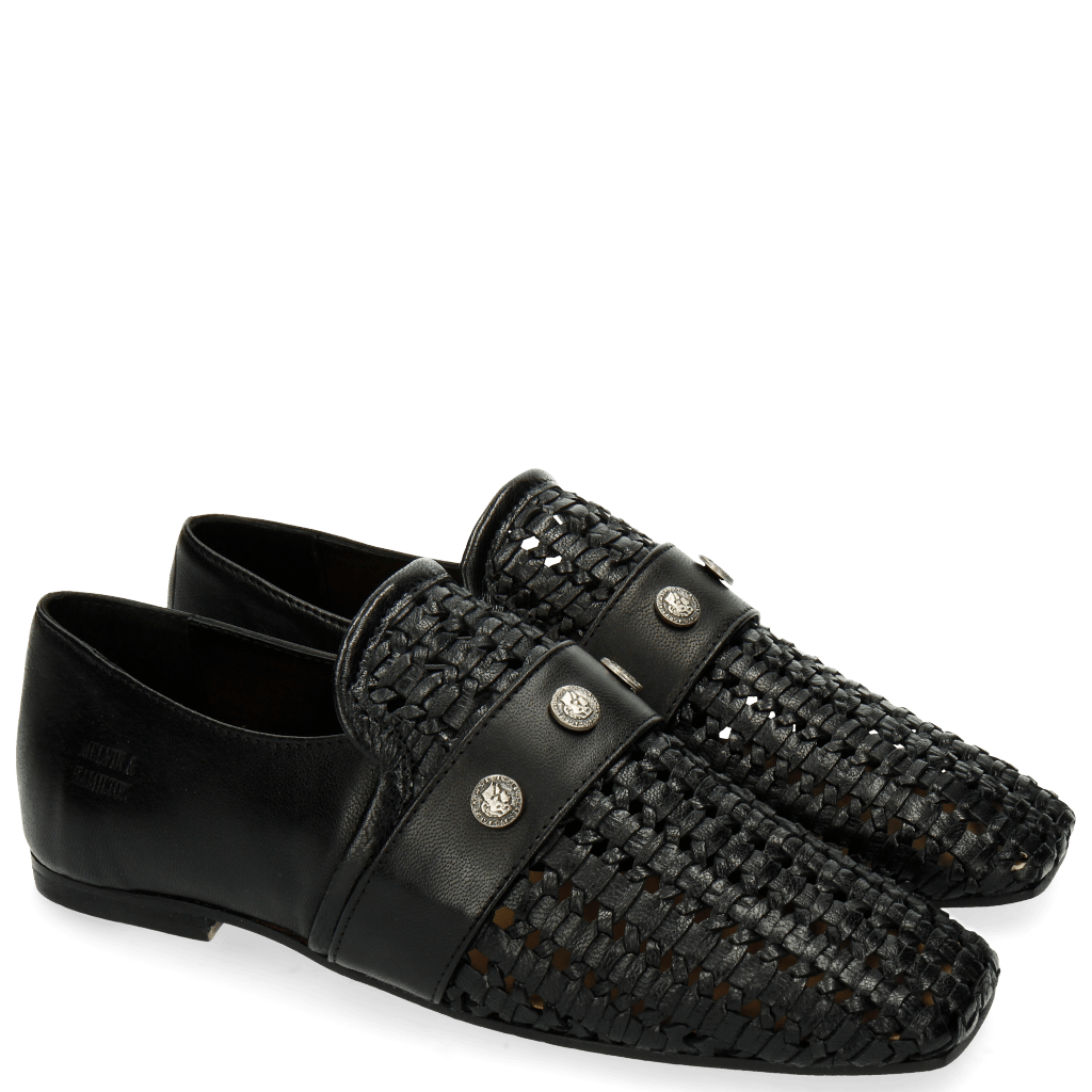 Mocassins Erika 2 Black Rivets