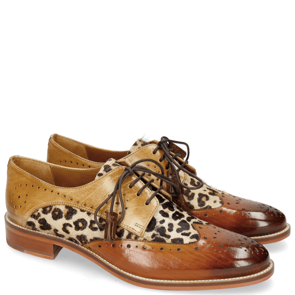 Derbies Betty 3 Tan Hairon Beige Nude