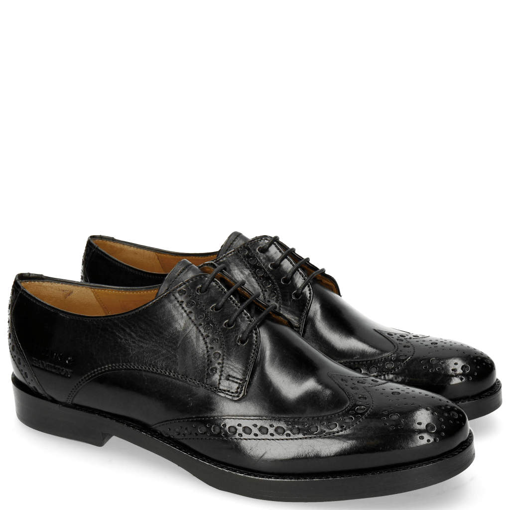 Derbies Amelie 3 Black HRS Thick Black