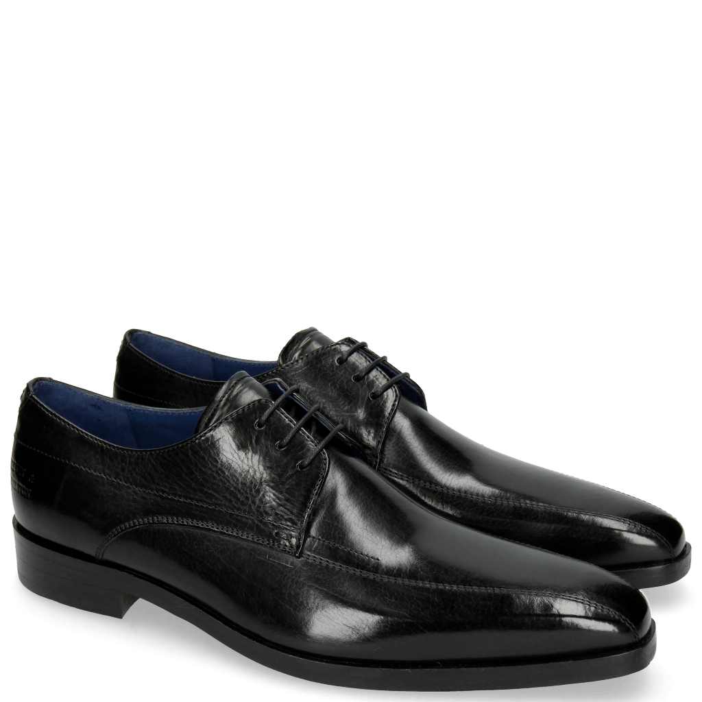 Derbies Lewis 10 Black Lining Electric Blue