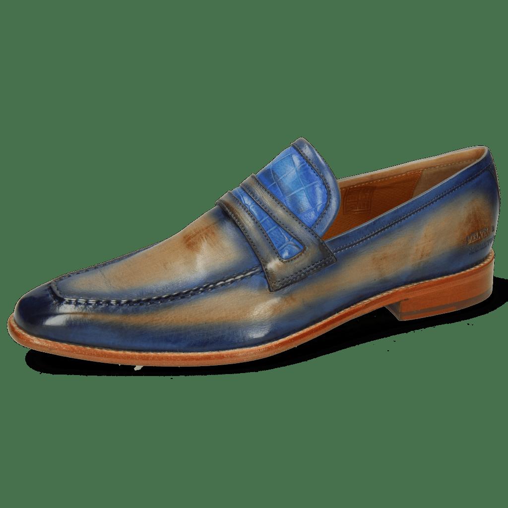 Mocassins Leonardo 16 Imola Sand Crock Mid Blue