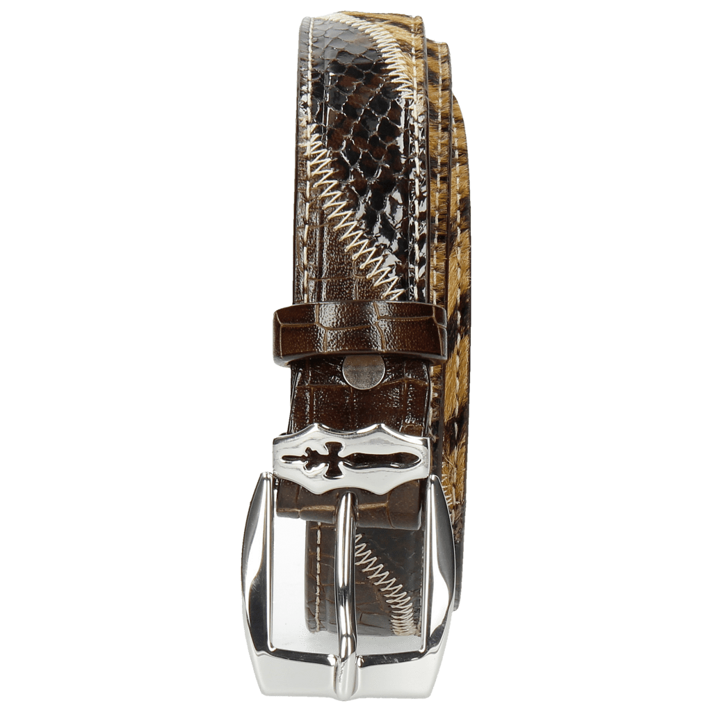 Ceintures Linda 1 Crock Brown Hairon Driveway Sword Buckle