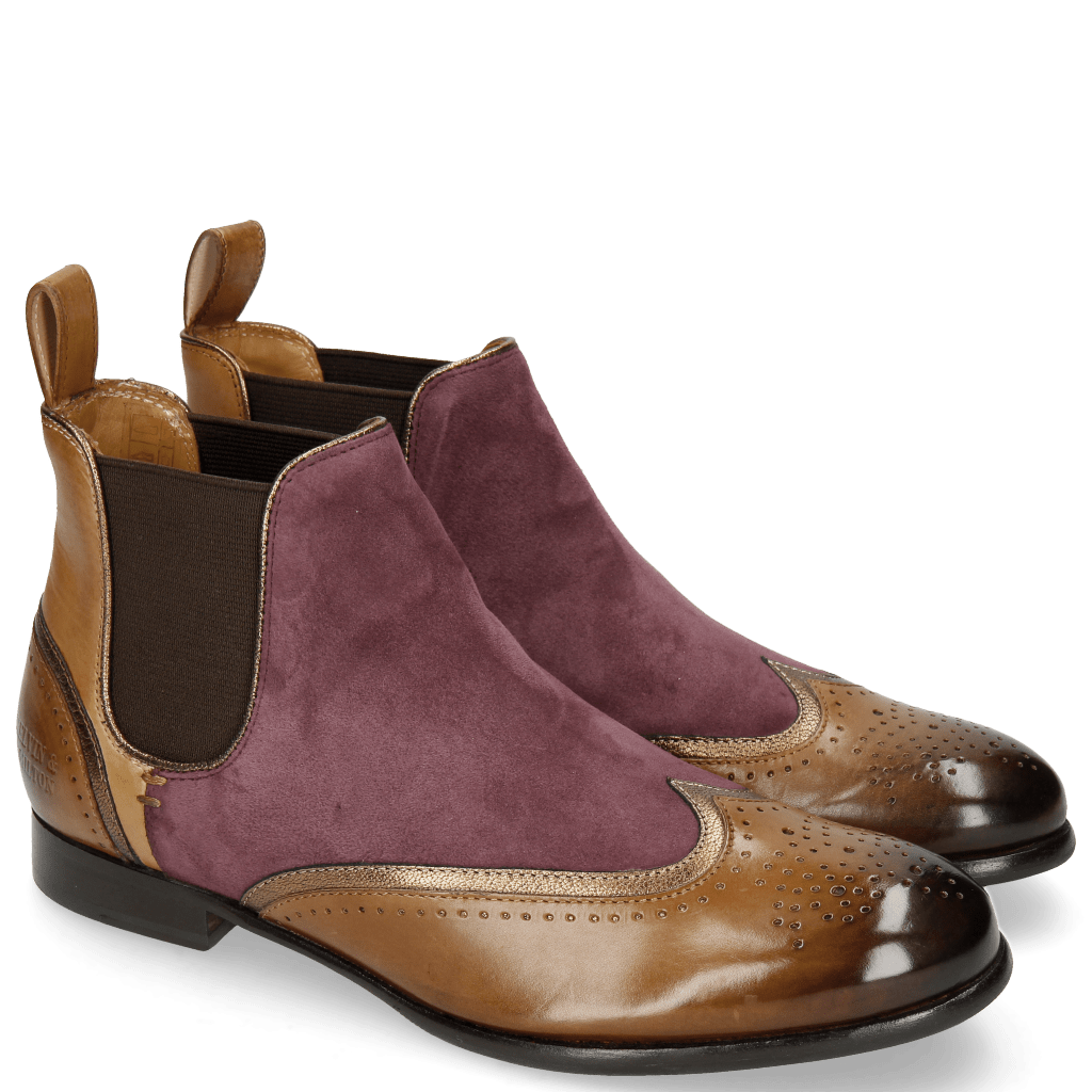 Bottines Sally 19 Tortora Aztek Bronze Suede Chilena