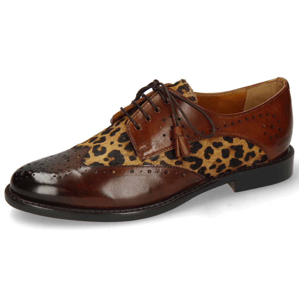Derbies Selina 41 Mid Brown Hairon Tanzania Wood