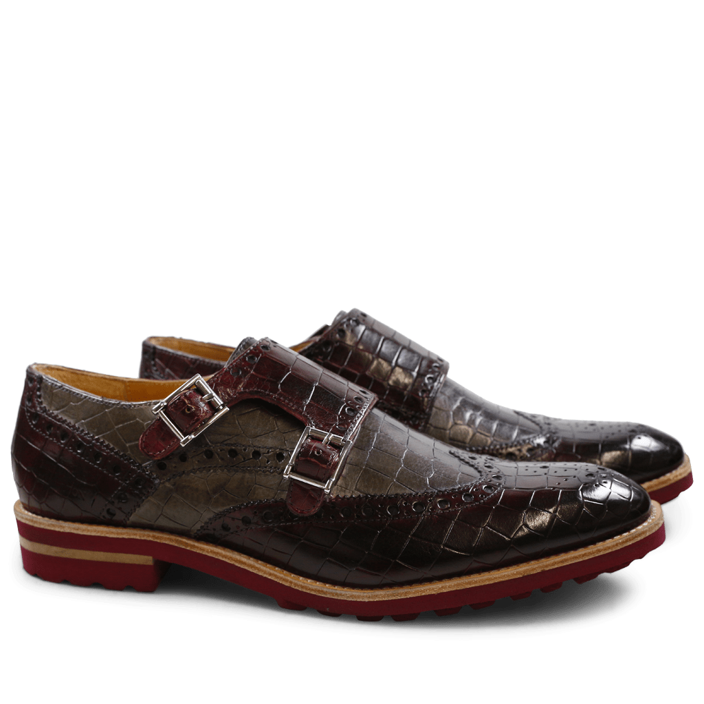 Monks Eddy 2 Crock Burgundy Smoke Aspen Burgundy