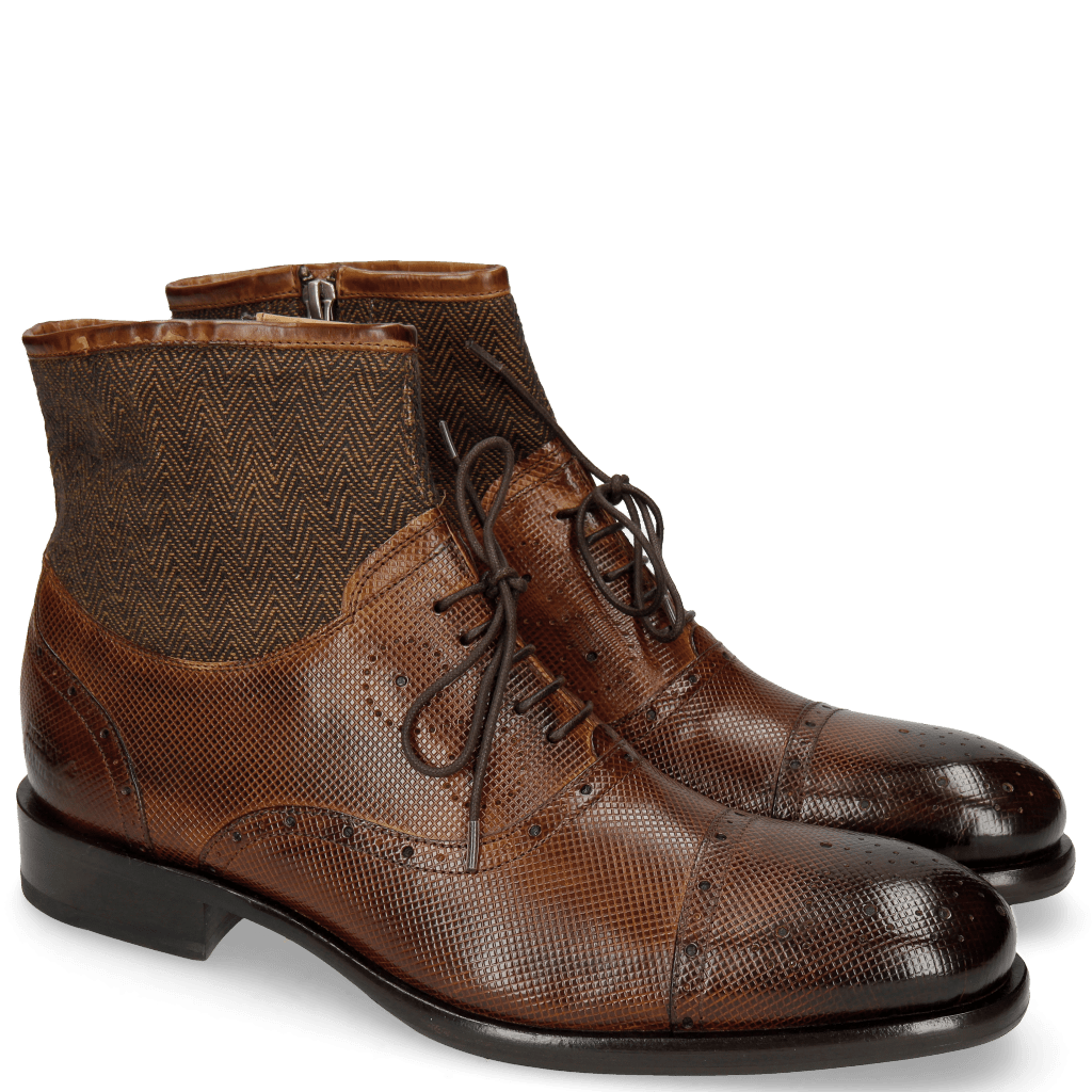 Bottines Patrick 4 Dice Wood Textile Harring Bone