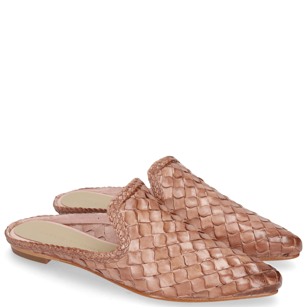 Mules Lydia 2 Woven Scale Rose