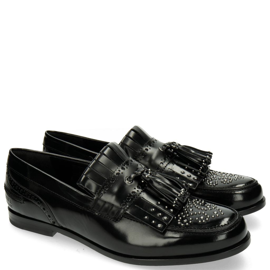 Mocassins Pit 2 Brush Black Rivets