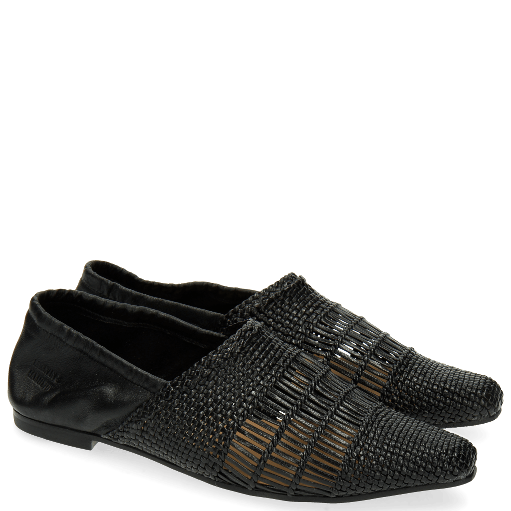 Mocassins Joolie 12 Woven Nappa Black