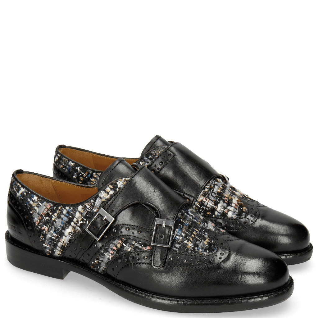 Monks Selina 1 Black Textile Spark