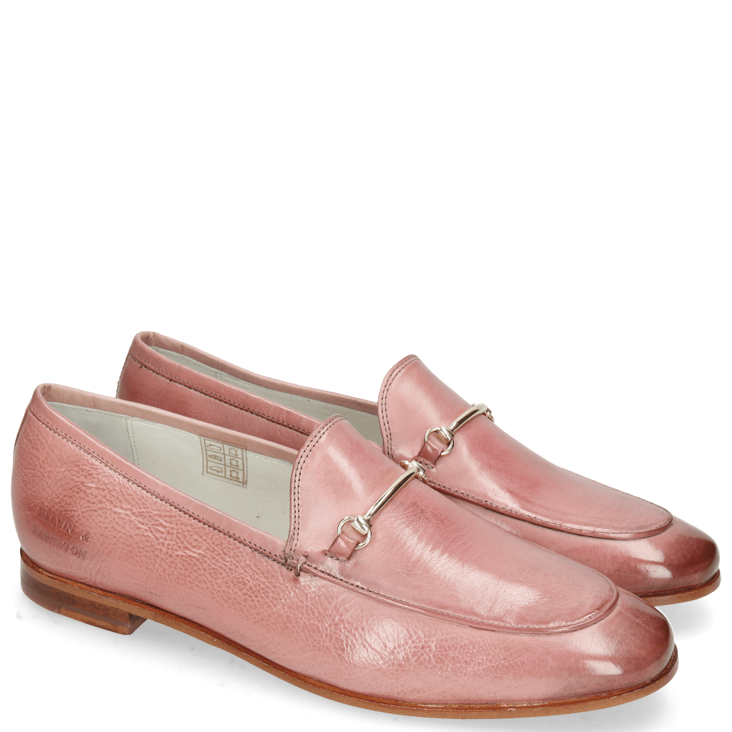 Mocassins Scarlett 22 Glove Nappa Pink Salt Trim Gold