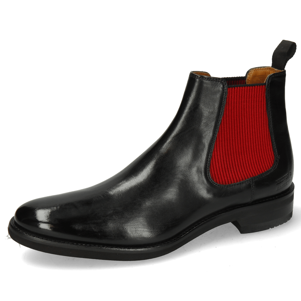 Bottines Clint 7 Imola Black Elastic Ribbed Red