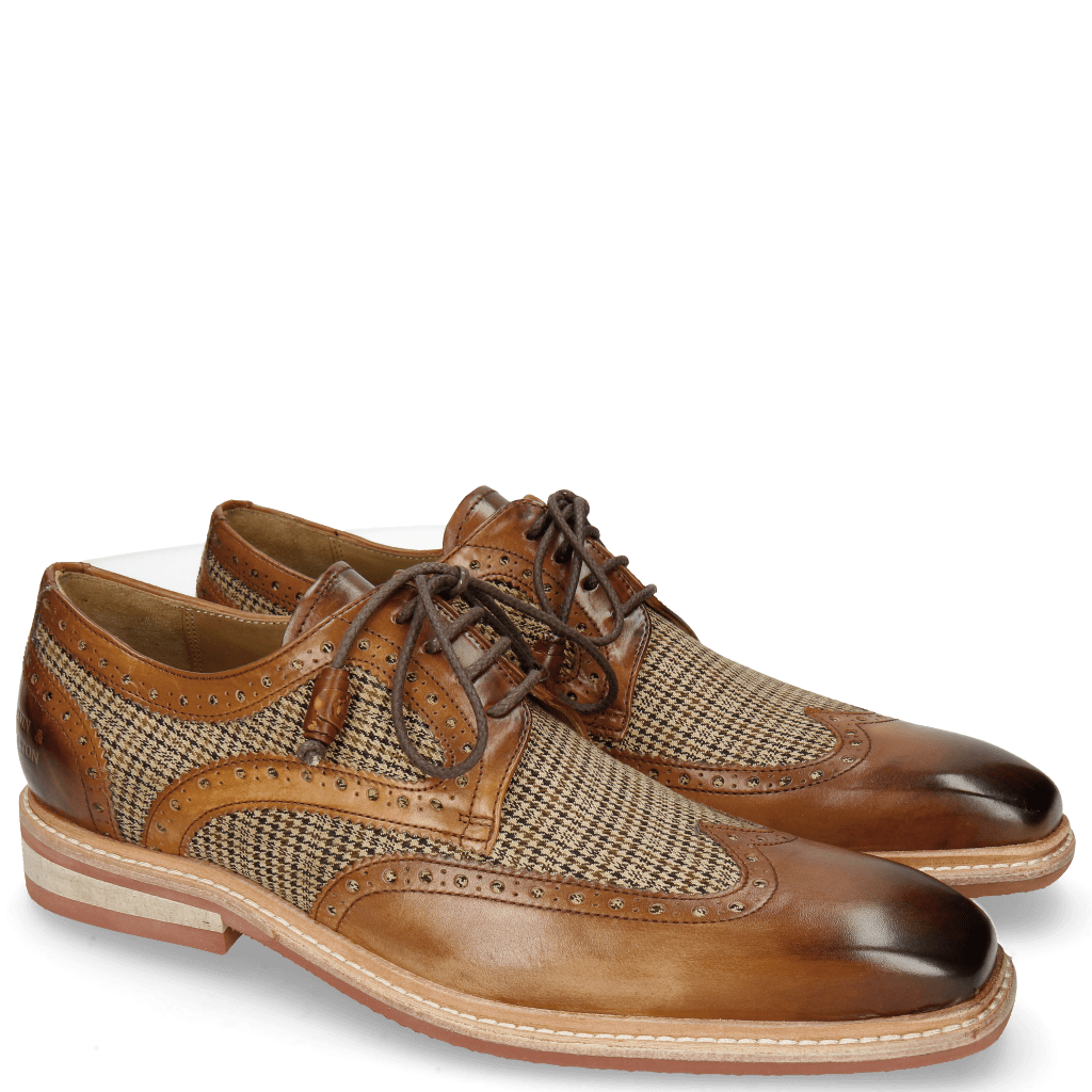 Derbies Marvin 18 Mid Brown Textile English