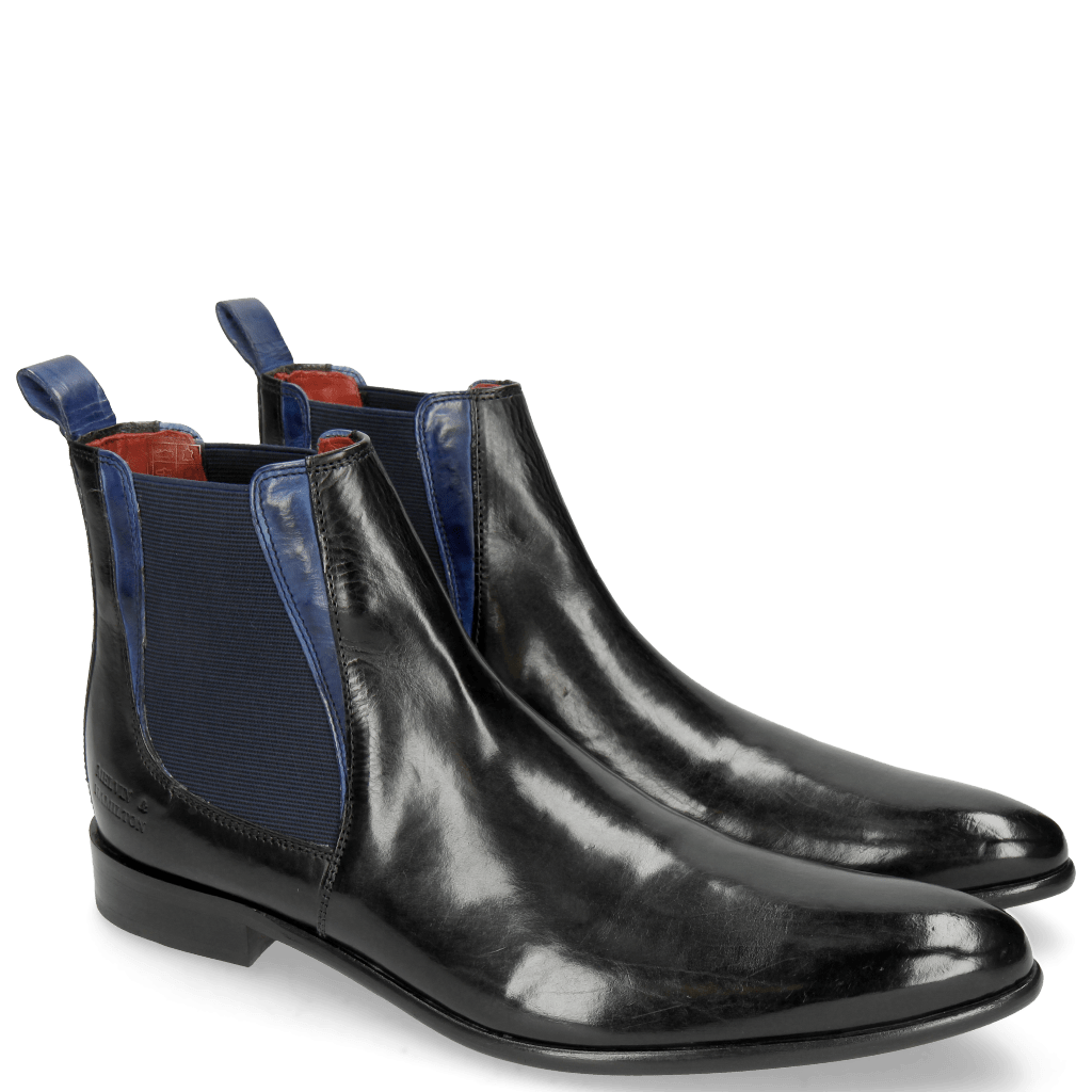 Bottines Toni 6 Black Electric Blue Elastic Navy