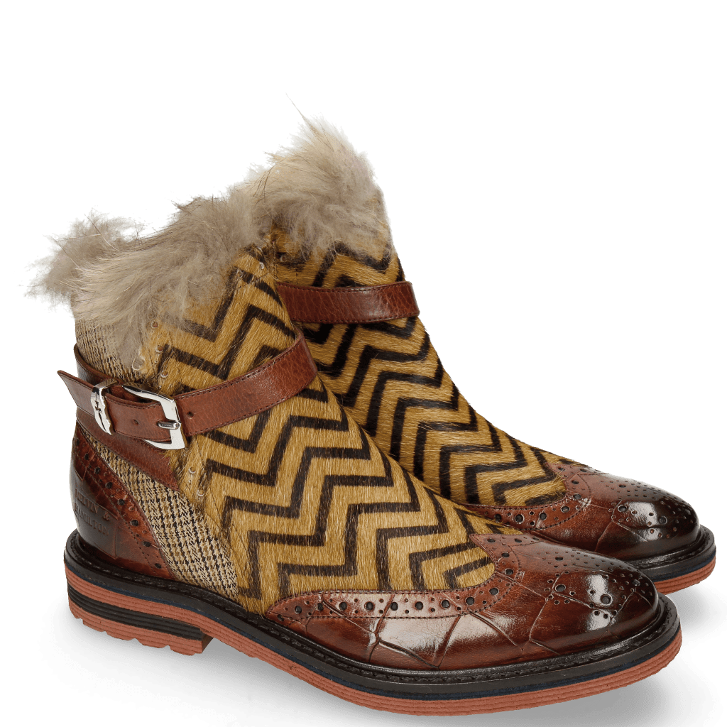 Bottines Amelie 67 Turtle Wood Hairon Driveway Textile English